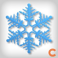 snowflake snow flake 3ds