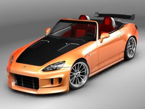 3d model honda s2000 sport tuning. Black Bedroom Furniture Sets. Home Design Ideas