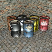 ready barrel props 3d model