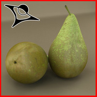 3d pear modeled