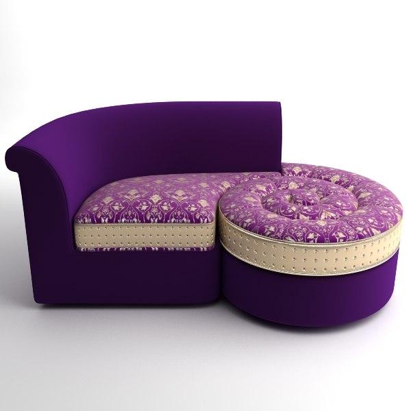 Italian Designer Divan Chaise