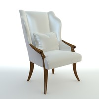 Wingback Italian chair