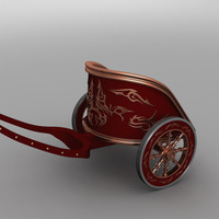 3d version roman war chariot
