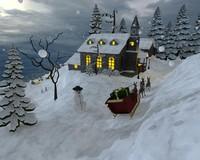 christmas scene 3d max