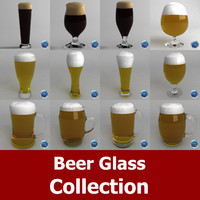 3d beer glasses