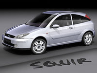 3d model of focus hatchback