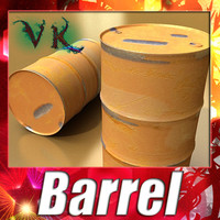 Barrel + Pallet + High resolution textures