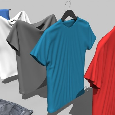3d max clothes t-shirt pants - Clothes Collection... by ugly_squid