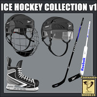 3ds max ice hockey equipment