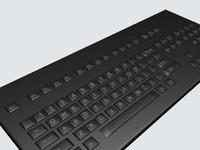 3d keyboard computers model
