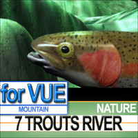 7 Rainbow Trouts 7 River Set [+ Caustics VFX]