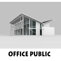 office public interior building 3d 3ds