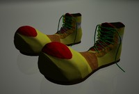 bright clown shoes 3d lwo