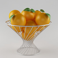 3d orange fruits model