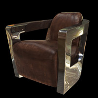 Armchair (leather/chrome)