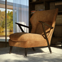 Armchair (leather/suede)