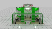 fair stand exhibition 3 3d model