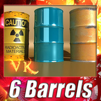 6 Barrels + Pallet + High Resolution Textures.