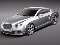 3d bentley continental gt 2012