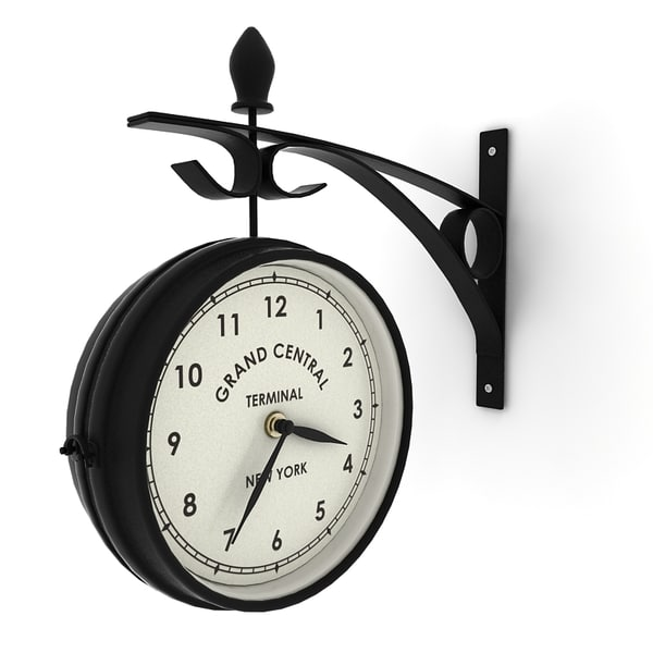 double sided wall clock 3d 3ds - Double sided wall clock... by ralpatov