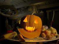 3d model of pumpkin halloween jack
