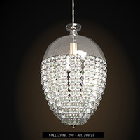 italamp 200 classic crystal glass chandelier small pendant