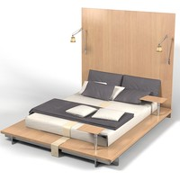 Peter mali modern bed contemporary high back japan style