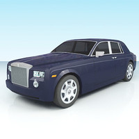low-poly rolls-royce phantom max