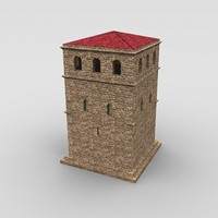 3d tower uv model