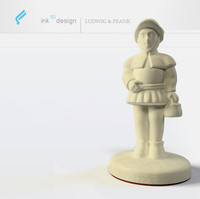 antique chess pawn 3d obj