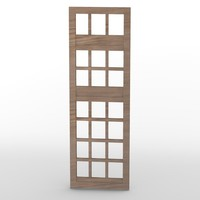 3d window wood wooden model