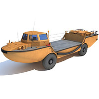 3d model larc-v amphibious army vehicle