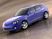 3d mazda 3 hatchback sedan model