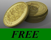 free lwo model gold coin