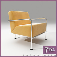 3d living room armchair colubi