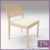 3ds max kitchen room chair wood