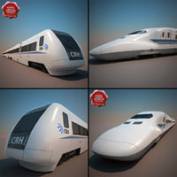 3d high-speed trains v2 model