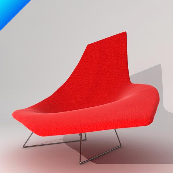 3d bertoia asymmetric chaise knoll furniture - Chaise bertoia occasion ...