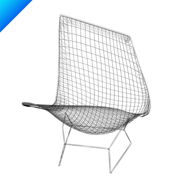 3d bertoia asymmetric chaise knoll furniture. Black Bedroom Furniture Sets. Home Design Ideas