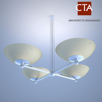3d apollo ceiling fixture model