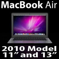 3d macbook air 2010 model