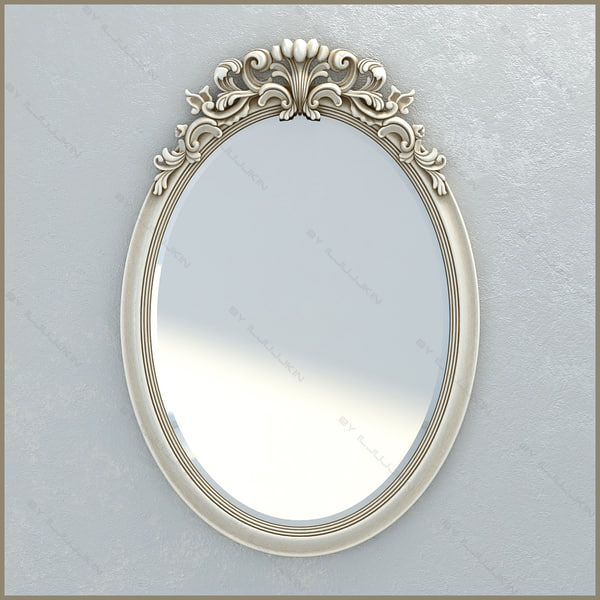 3d mirror chelini 1234 model for Mirror 3d model