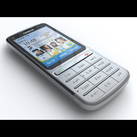 3d nokia c3-01 touch type