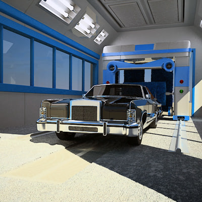 3ds max automatic car wash - Lincoln Car Wash... by QLEE