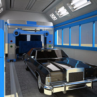 3ds max automatic car wash