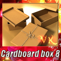 photorealistic cardboard box rope 3d max