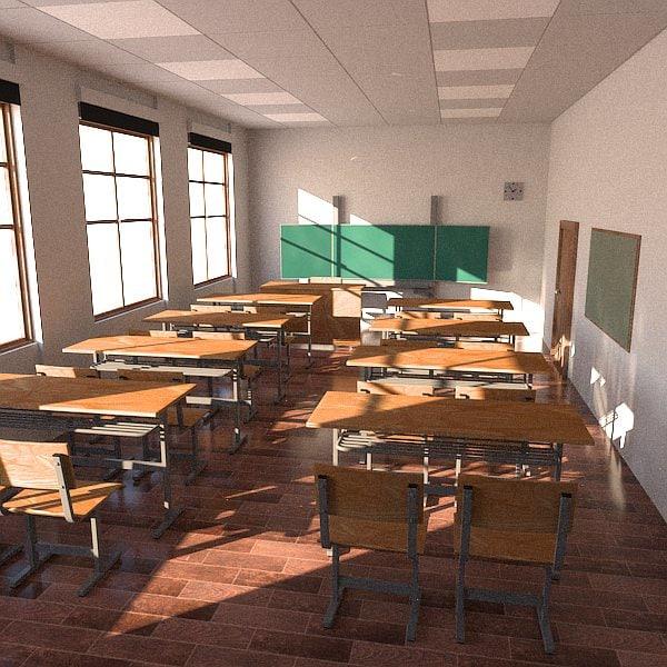 Classroom Designer 3d ~ D model classrooms interiors