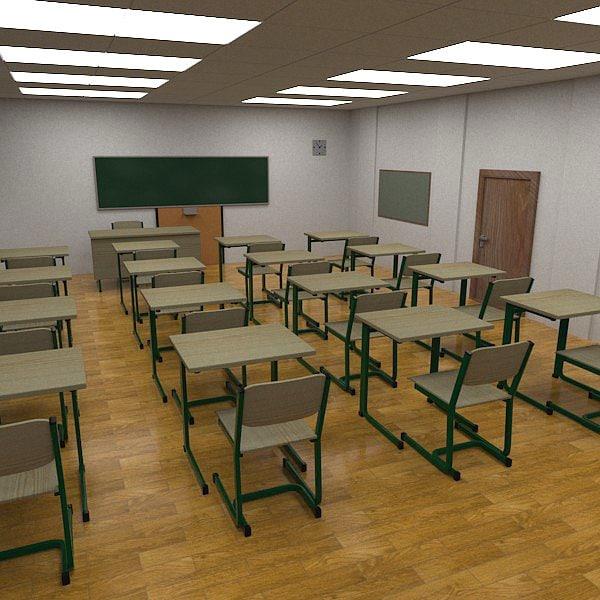 Classroom Designer 3d ~ D model classroom class room