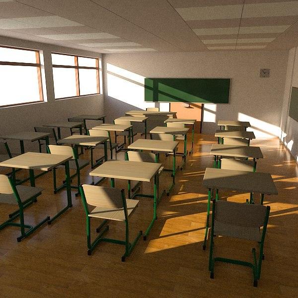 Virtual Classroom Design Free : D model classroom class room