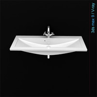 modern bathroom sink 3d model